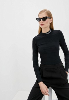Водолазка, Karl Lagerfeld, цвет: черный. Артикул: KA025EWJSJR9. Одежда / Джемперы, свитеры и кардиганы / Водолазки