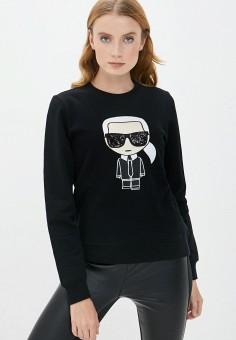 Свитшот, Karl Lagerfeld, цвет: черный. Артикул: KA025EWJSJS0. Premium