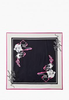 Платок, Karl Lagerfeld, цвет: черный. Артикул: KA025GWJSKG5. Аксессуары / Платки и шарфы