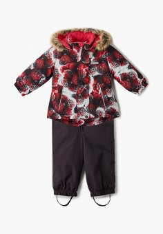 Костюм утепленный, Kerry, цвет: коричневый, мультиколор. Артикул: KE014EGJYGA2. Девочкам / Одежда / Верхняя одежда