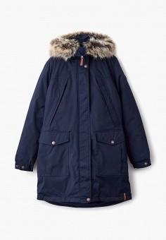 Парка, Kerry, цвет: синий. Артикул: KE014EGJYGF1. Девочкам / Одежда / Верхняя одежда / Куртки и пуховики
