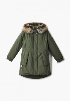 Парка, Kerry, цвет: хаки. Артикул: KE014EGJYGF3. Девочкам / Одежда / Верхняя одежда / Куртки и пуховики