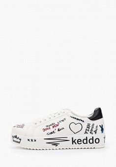 Кеды, Keddo, цвет: белый. Артикул: KE037AWIHUV1.