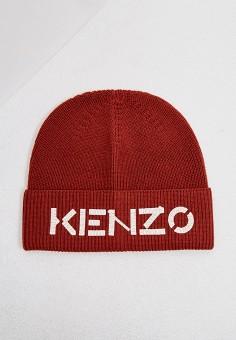 Шапка, Kenzo, цвет: бордовый. Артикул: KE228CUJRWU2. Аксессуары / Головные уборы / Шапки