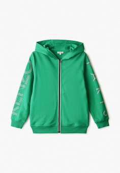 Толстовка, Kenzo, цвет: зеленый. Артикул: KE228EBHNIG6. Мальчикам / Одежда