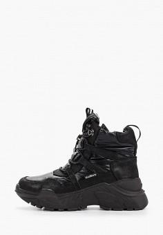 Ботинки, King Boots, цвет: черный. Артикул: KI008AWGUSI6. Обувь / Ботинки / Высокие ботинки