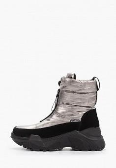 Дутики, King Boots, цвет: серебряный. Артикул: KI008AWGUSI7. Обувь / Сапоги / Дутики