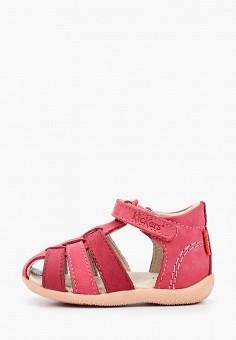 Сандалии, Kickers, цвет: розовый. Артикул: KI668AGIPIG6. Новорожденным
