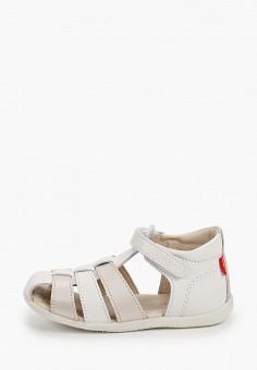 Сандалии, Kickers, цвет: белый. Артикул: KI668AGIPIG7. Новорожденным
