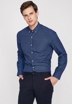 Рубашка, Koton, цвет: синий. Артикул: KO008EMFOAT9. Одежда / Рубашки / Рубашки с длинным рукавом