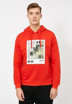 Худи, Koton, цвет: красный. Артикул: KO008EMIHRM4. Одежда / Толстовки и олимпийки / Худи