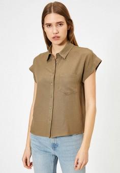 Блуза, Koton, цвет: хаки. Артикул: KO008EWITSN3. Одежда / Блузы и рубашки