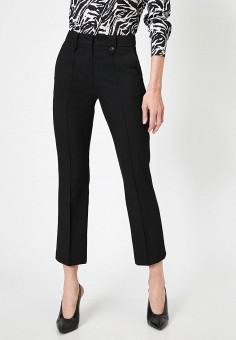 Брюки, Koton, цвет: черный. Артикул: KO008EWJFCT3. Одежда / Брюки / Классические брюки