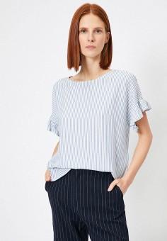 Блуза, Koton, цвет: голубой. Артикул: KO008EWJFCW9. Одежда / Блузы и рубашки