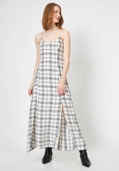 Платье, Koton, цвет: белый. Артикул: KO008EWJFCY4. Одежда / Платья и сарафаны