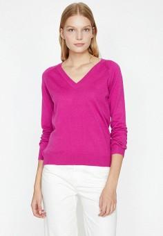 Пуловер, Koton, цвет: розовый. Артикул: KO008EWJLUL6. Одежда / Джемперы, свитеры и кардиганы / Джемперы и пуловеры