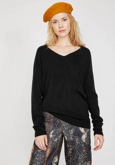 Пуловер, Koton, цвет: черный. Артикул: KO008EWJMOE5. Одежда / Джемперы, свитеры и кардиганы / Джемперы и пуловеры