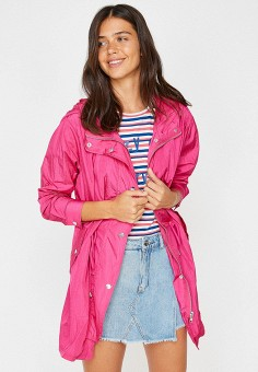 Парка, Koton, цвет: розовый. Артикул: KO008EWJMTB3. Одежда / Верхняя одежда
