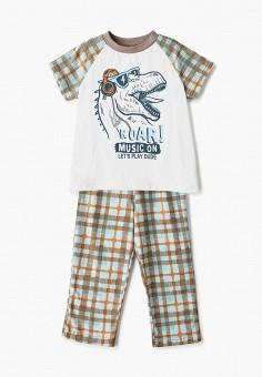 Пижама, КотМарКот, цвет: белый, коричневый. Артикул: KO011EBISMN1.