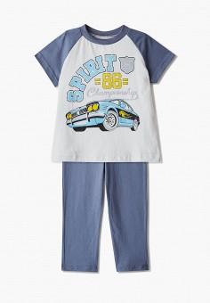 Пижама, КотМарКот, цвет: серый, синий. Артикул: KO011EBISMN3.