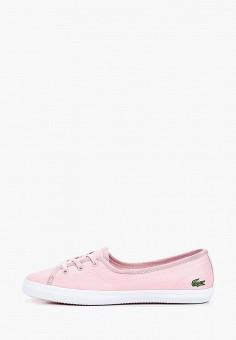 Кеды, Lacoste, цвет: розовый. Артикул: LA038AWELYW1.