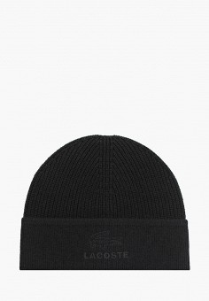 Шапка, Lacoste, цвет: черный. Артикул: LA038CMGOTF8.