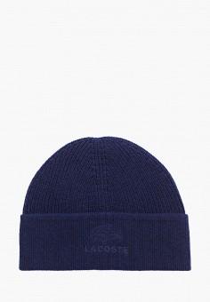 Шапка, Lacoste, цвет: синий. Артикул: LA038CMGOTF9.