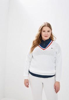 Пуловер, Lacoste, цвет: белый. Артикул: LA038EWELTD9.