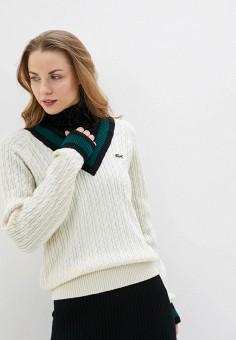 Пуловер, Lacoste, цвет: белый. Артикул: LA038EWFQOK8.