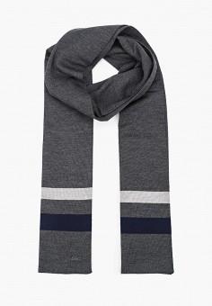 Шарф, Lacoste, цвет: серый. Артикул: LA038GMGOTI5.