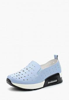 Слипоны, La Grandezza, цвет: голубой. Артикул: LA051AWALKQ4. Обувь / Слипоны
