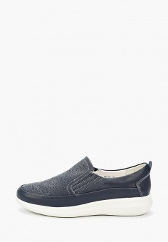 Слипоны, La Grandezza, цвет: синий. Артикул: LA051AWIYJR1. Обувь / Слипоны