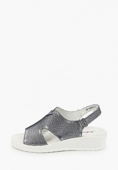 Босоножки, La Grandezza, цвет: серый. Артикул: LA051AWIYJX8. Обувь / Босоножки