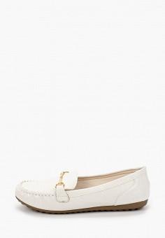 Мокасины, La Bottine Souriante, цвет: белый. Артикул: LA062AWIVBA6. Обувь / Мокасины и топсайдеры