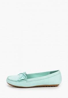 Мокасины, La Bottine Souriante, цвет: бирюзовый. Артикул: LA062AWIVBI1. Обувь / Мокасины и топсайдеры