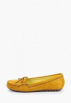 Мокасины, La Bottine Souriante, цвет: желтый. Артикул: LA062AWIVBI4. Обувь / Мокасины и топсайдеры
