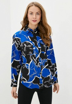 Блуза, Lauren Ralph Lauren, цвет: синий. Артикул: LA079EWHTXL8. Одежда / Блузы и рубашки