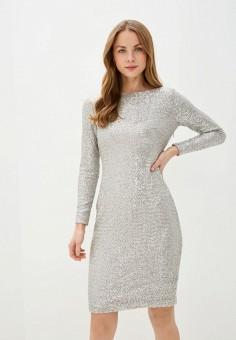 Платье, Lauren Ralph Lauren, цвет: серебряный. Артикул: LA079EWHUAK9. Одежда / Платья и сарафаны / Вечерние платья