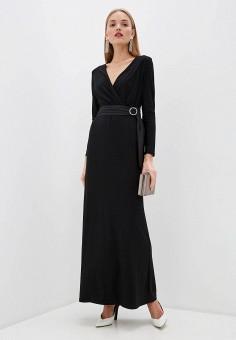 Платье, Lauren Ralph Lauren, цвет: черный. Артикул: LA079EWHUAM0. Одежда / Платья и сарафаны / Вечерние платья