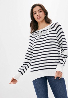 Джемпер, Laurel, цвет: синий. Артикул: LA678EWHXKD0. Одежда / Джемперы, свитеры и кардиганы / Джемперы и пуловеры / Джемперы