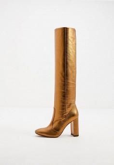 Ботфорты, L'Autre Chose, цвет: золотой. Артикул: LA932AWJXOS3. Обувь / Сапоги / Ботфорты