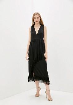 Платье, L'Autre Chose, цвет: черный. Артикул: LA932EWHZRF5. Одежда / Платья и сарафаны / Вечерние платья