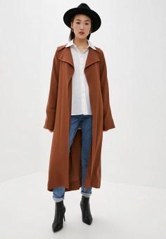 Плащ, L'Autre Chose, цвет: коричневый. Артикул: LA932EWHZRG8. Одежда / Верхняя одежда / Плащи и тренчи