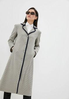 Пальто, L'Autre Chose, цвет: серый. Артикул: LA932EWHZRG9. Premium