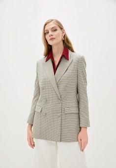 Пиджак, L'Autre Chose, цвет: бежевый. Артикул: LA932EWHZRH0. Одежда / Пиджаки и костюмы