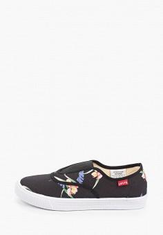 Слипоны, Levi's?, цвет: черный. Артикул: LE306AWHPOK1. Обувь / Слипоны