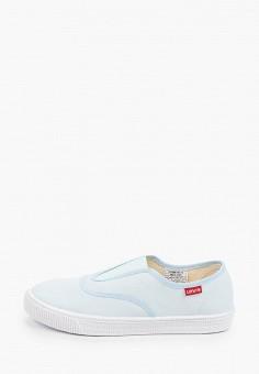 Слипоны, Levi's?, цвет: голубой. Артикул: LE306AWHPOK2. Обувь / Слипоны