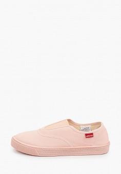 Слипоны, Levi's?, цвет: розовый. Артикул: LE306AWHPOL4. Обувь / Слипоны