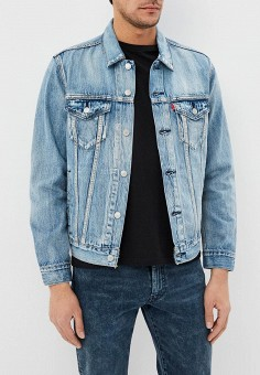 Куртка джинсовая, Levi's?, цвет: голубой. Артикул: LE306EMDHYE2. Одежда