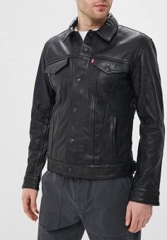 Куртка кожаная, Levi's?, цвет: черный. Артикул: LE306EMEHJF4. Одежда / Верхняя одежда